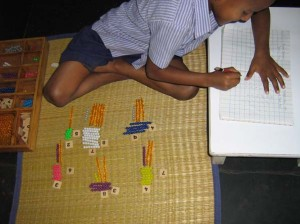 Multiplication with Coloured Bead Bars